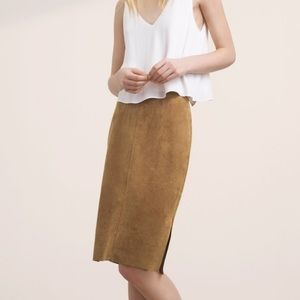 Wilfred Free faux suede pencil skirt